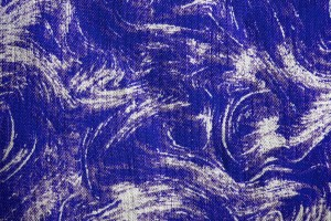 Fabric Texture with Royal Blue Swirl Pattern - Free High Resolution Photo
