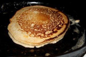 Pancake Cooking in Cast Iron Frying Pan - Free High Resolution Photo