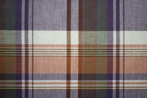 Orange and Blue Plaid Fabric Texture - Free High Resolution Photo