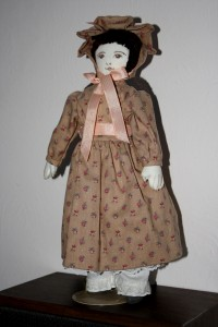 Handmade Cloth Doll with Brown Dress - Free High Resolution Photo