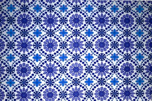 Blue Flowers Wallpaper Texture - Free High Resolution Photo