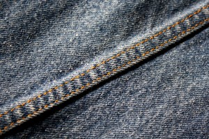 Seam on Denim Blue Jeans - Free High Resolution Photo