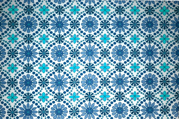 Turquoise Flowers Wallpaper Texture - Free High Resolution Photo