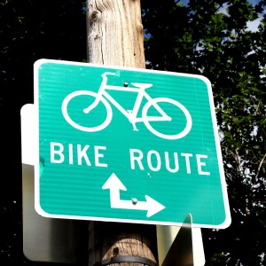 Bike Route Sign - Free High Resolution Photo