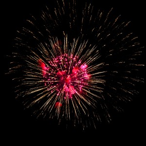 Fireworks Starburst Red and Gold - Free High Resolution Photo