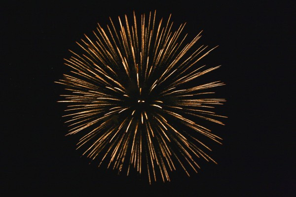 Golden Starburst Fireworks - Free High Resolution Photo