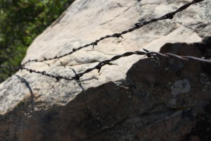 Barbed Wire Across Rock - Free High Resolution Photo