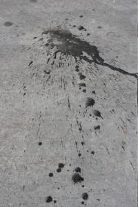 Black Paint Splatter on Cement Sidewalk - Free High Resolution Photo