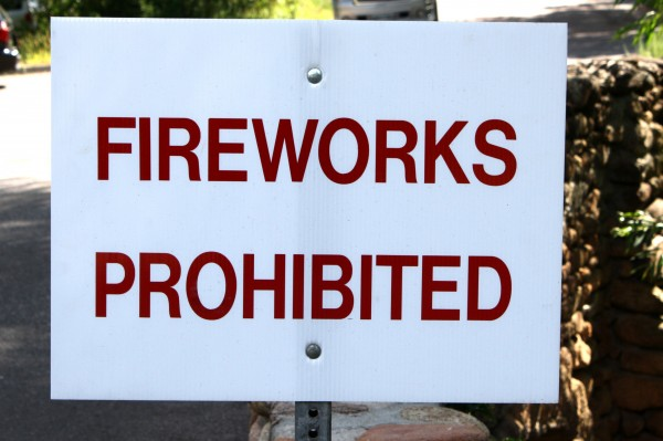 Fireworks Prohibited Sign - Free High Resolution Photo