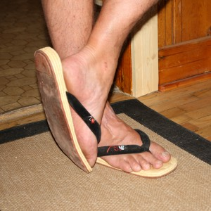 Man's Feet Wearing Thongs - Free High Resolution Photo