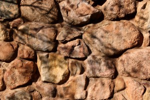 Rock Wall with Tree Branch Shadows Texture - Free High Resolution Photo