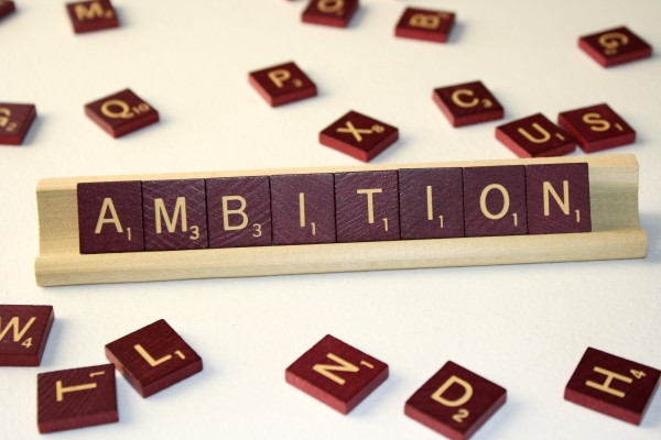 Ambition - Free High Resolution Photo of the word Ambition spelled in Scrabble tiles