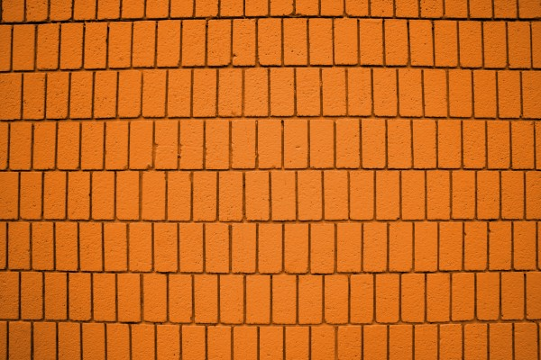 Bright Orange Brick Wall Texture with Vertical Bricks - Free High Resolution Photo