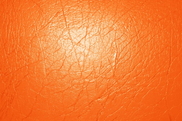 Bright Orange Leather Texture - Free High Resolution Photo