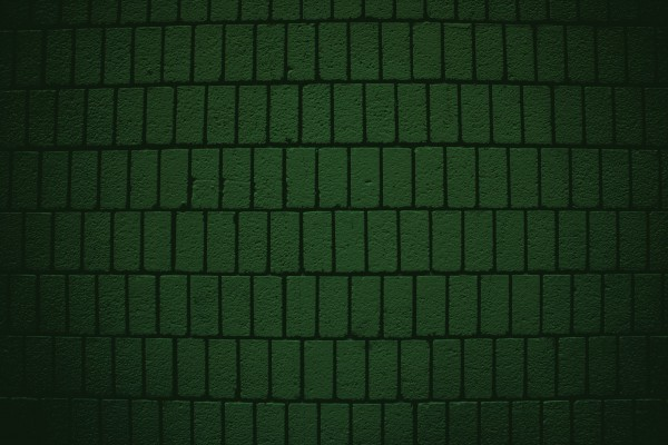Dark Green Brick Wall Texture with Vertical Bricks - Free High Resolution Photo