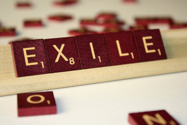 Exile - Free High Resolution Photo of the word Exile spelled in Scrabble tiles