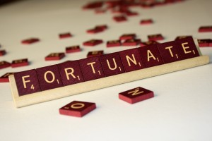 Fortunate - Free High Resolution Photo of Scrabble tiles spelling the word Fortunate