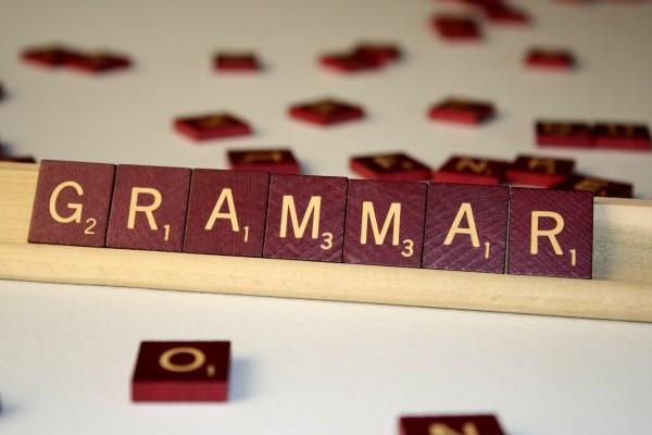 Grammar - Free high resolution photo of the word Grammar spelled in Scrabble tiles