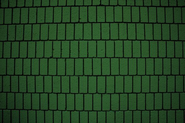 Green Brick Wall Texture with Vertical Bricks - Free High Resolution Photo