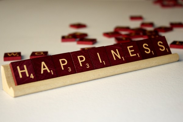 Happiness - Free High Resolution Photo of the word Happiness spelled in Scrabble tiles