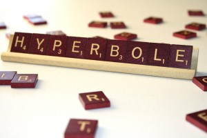 Hyperbole - Free High Resolution Photo of the word Hyperbole spelled in Scrabble tiles