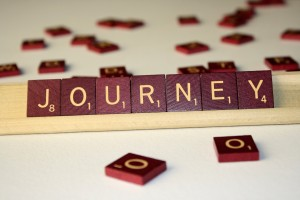 Journey - Free High Resolution Photo of the word Journey spelled in Scrabble tiles