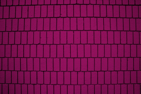 Magenta Brick Wall Texture with Vertical Bricks - Free High Resolution Photo