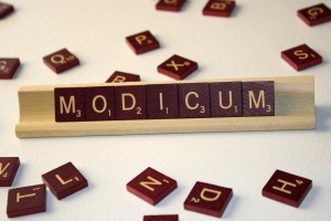 Modicum - Free High Resolution Photo of the word Modicum spelled in Scrabble tiles