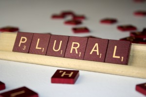 Plural - Free High Resolution Photo of the word plural spelled in Scrabble tiles