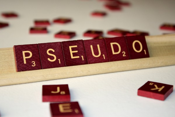 Pseudo - Free High Resolution Photo of the word Pseudo spelled in Scrabble tiles