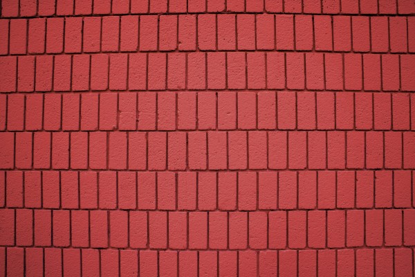Red Painted Brick Wall Texture with Vertical Bricks - Free High Resolution Photo