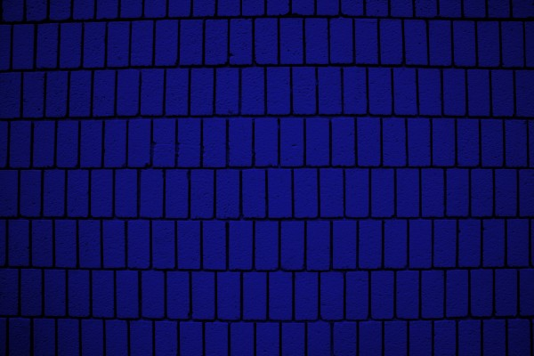 Royal Blue Brick Wall Texture with Vertical Bricks - Free High Resolution Photo
