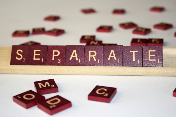 Separate - Free High Resolution Photo of the word Separate spelled in Scrabble tiles