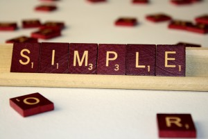 Simple - Free High Resolution Photo of the word Simple spelled in Scrabble tiles