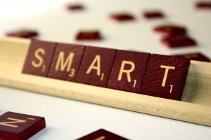 Smart - Free High Resolution Photo of the word Smart spelled in Scrabble tiles