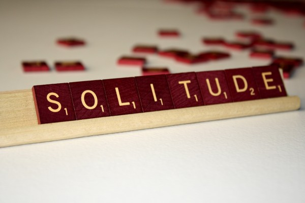 Solitude - Free High Resolution Photo of the word Solitude spelled in Scrabble tiles