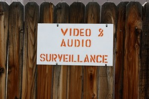 Video and Audio Surveillance Sign on Fence - Free High Resolution Photo