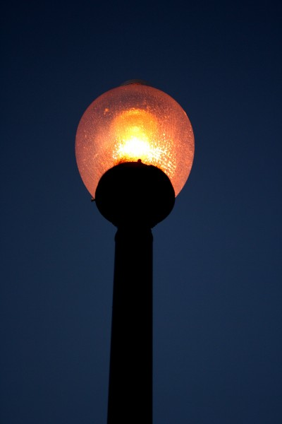 Decorative Lighted Street Lamp at Night - Free high resolution photo