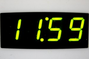 Digital Clock Reading 11:59 - Free High Resolution Photo