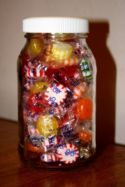 Glass Jar Full of Hard Candy - Free High Resolution Photo