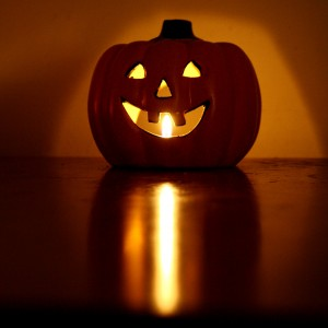 Halloween Pumpkin Candle with Burning Flame - Free High Resolution Photo