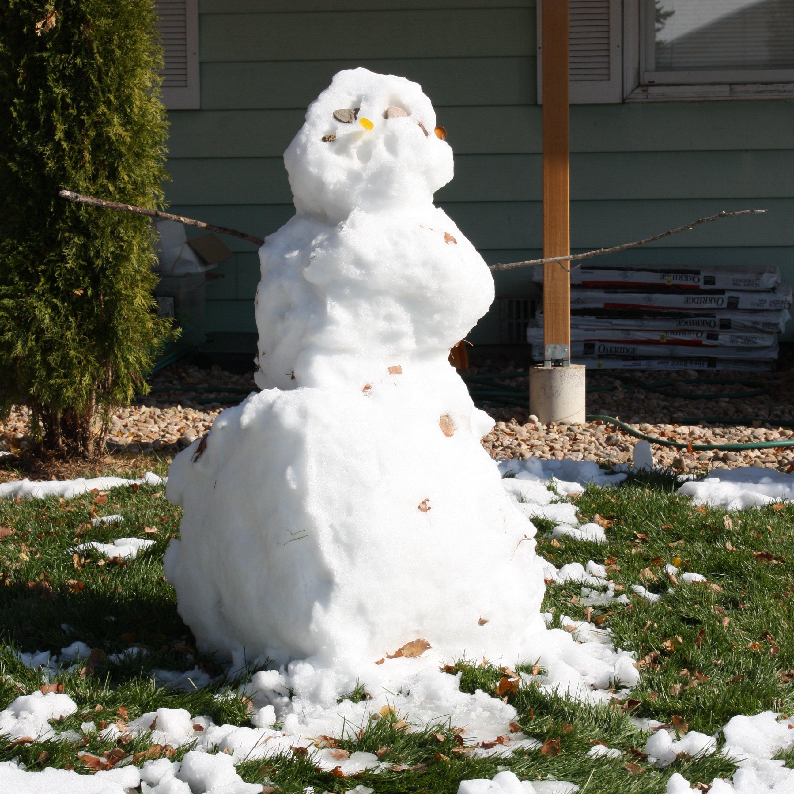 Melting Snowman Picture Free Photograph Photos Public