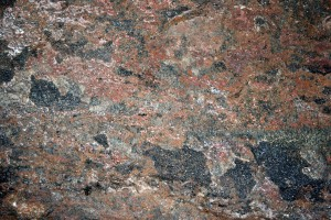 Mica Schist Rock Texture with Red Feldspar, Black Biotite and White Quartz - Free High Resolution Photo