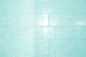 Aqua or Teal Colored Bathroom Tile Texture with Swirl Pattern - Free High Resolution Photo