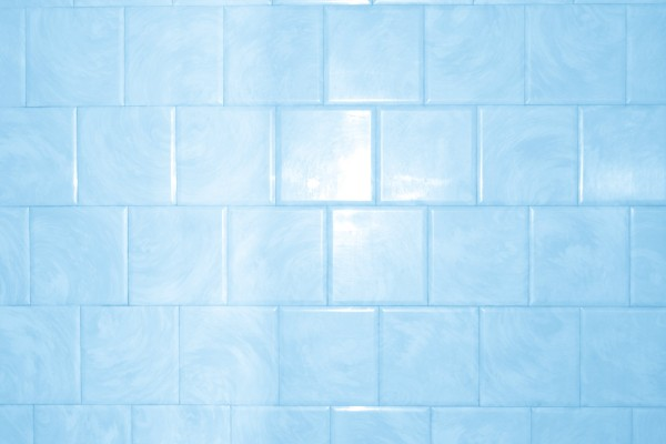 Baby Blue Bathroom Tile with Swirl Pattern Texture - Free High Resolution Photo