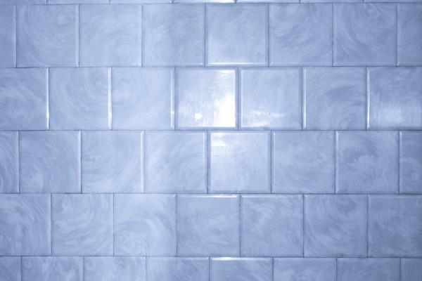 Blue Bathroom Tile with Swirl Pattern Texture - Free High Resolution Photo