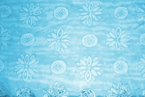 Blue Fabric Texture with Flowers and Circles - Free High Resolution Photo