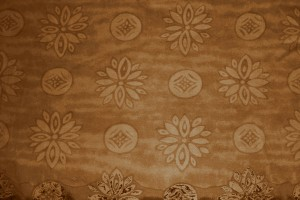 Brown Fabric Texture with Flowers and Circles - Free High Resolution Photo