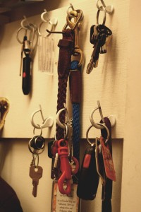 Keys Hanging on Hooks in Closet - Free High Resolution Photo
