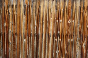 Wooden Fence with Nail Rust Streaks Texture - Free High Resolution Photo